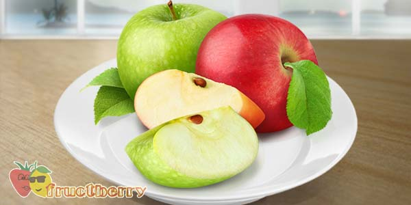 яблоки-красные-зелёные