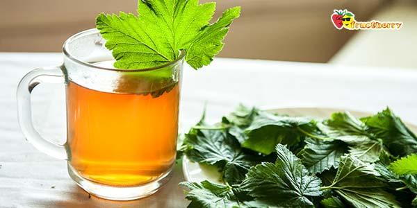 Классический чай с листьями смородины