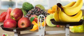Калорийность и БЖУ фруктов
