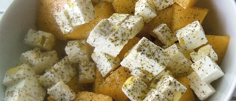 дыня с сыром