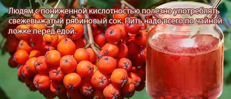 рябиновый сок свежий