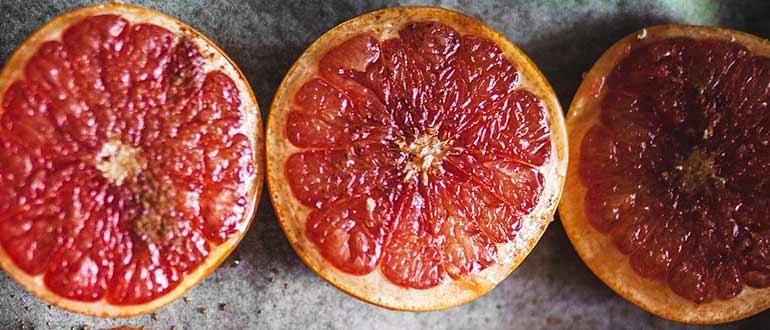 Грейпфрут запечёный