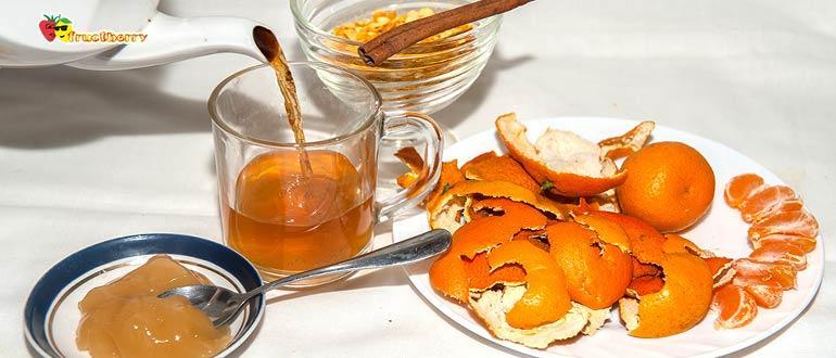 чай с мандариновыми корками