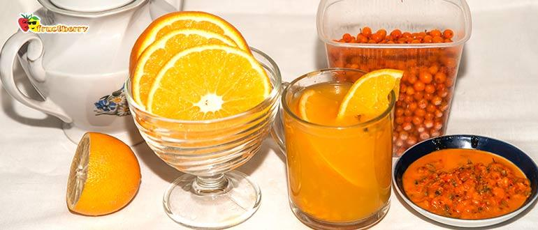 чай с облепихой и апельсином