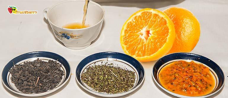 чай со специями и апельсином