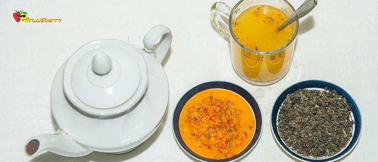 классический чай с облепихой