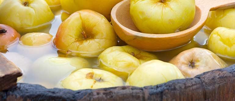 яблоки моченые в-бочках