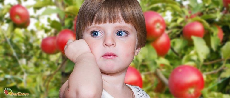аллергия на яблоки у детей