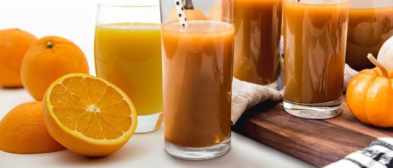 Тыквенно апельсиновый сок