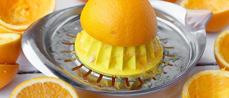 очистка апельсинов